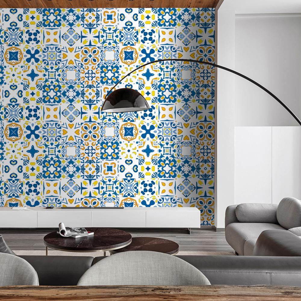 24pcs Kitchen Bathroom Tile Stickers Mosaic Sticker PVC Self-adhesive Wall Decor
