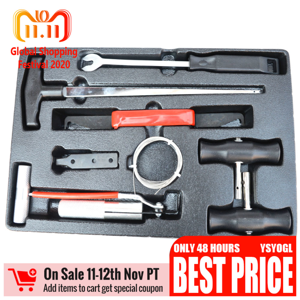 7pcs/set Professional Car Windshield Remover Cut Tool Kit Auto Car Window Glass Removal Car Repair T