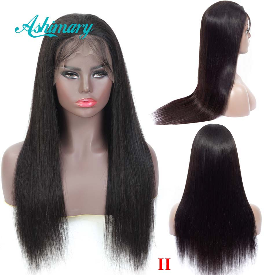 Lace Front Human Hair Wigs For Black Women Remy Brazilian Straight Human Hair 13x6 Lace Front Wigs Pre Plucked High Ratio