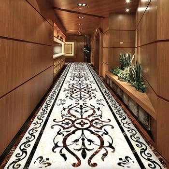 Alfombras largas de pasillo de estilo europeo de lujo de gama alta alfombras de pasillo de Hotel escaleras alfombra de pasillo de Casa alfombra antideslizante alfombra de piso de pasillo de boda