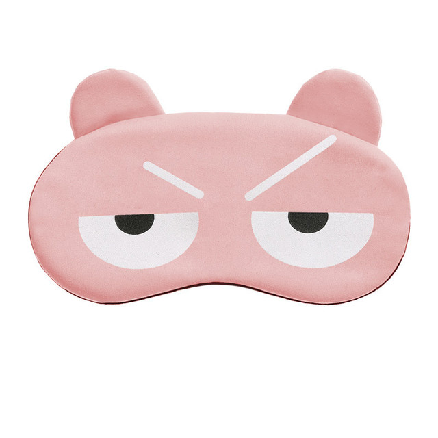 Cotton Cartoon Face Sleep Eye Mask Cute Funny Lovely Eye Cover Sleeping Mask Travel Rest Eye Band Kids Eye shade Patch Blindfold 3
