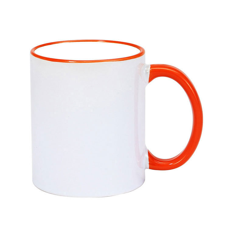 Coffee Cup Color Handle Ceramic Mug Daily Household Suitable for Friends and Family Mugs