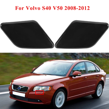 Left & Right Front Bumper Headlight Washer Nozzle Spray Jet Cover Cap for Volvo S40 V50 2008-2012 #39886377, 39886397 image