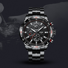 BOYZHE Men's Multi-function Automatic Mechanical Watch steel Strap Waterproof Fashion Luxury Men Automatic Watches