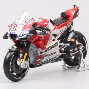 Image 1 - Maisto 1:18 ölçekli Ducati Desmosedici RR GP15 GP18 No. 04 Andrea Dovizioso moto rcycle yarış moto bisiklet Diecasts modeli GP oyuncaklar 2018
