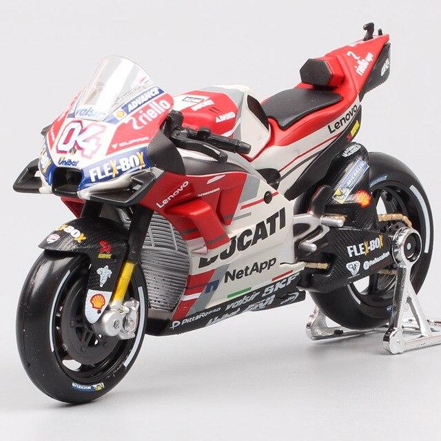 Maisto 1:18 ölçekli Ducati Desmosedici RR GP15 GP18 No. 04 Andrea Dovizioso moto rcycle yarış moto bisiklet Diecasts modeli GP oyuncaklar 2018