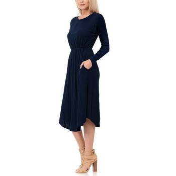 цена Maternity Dresses Pregnancy Dess Long Sleeve Solid Nursing Dress For Breastfeeding Wholeslae Free Ship одежда для беременных Z4 онлайн в 2017 году