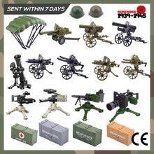 Совместимость для блокировки военных WW2 оружие война армия оружие коробка строительные блоки кирпичи подарки для детей мальчик% 27s собрать игрушки