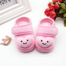 Newborn Baby Girls First Walkers Fashion Toddler Stars Cloud Winter With Bow Infant Little Girls Loafers Soft Soled Suede Shoes(China)
