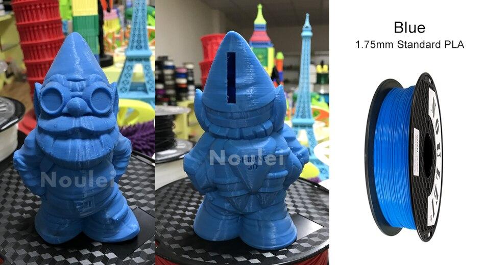 9 noulei 3d printing PLA filament 1.75mm blue