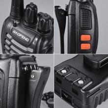 Baofeng BF-888S 2 PCS VHF/UHF portable FM Transceiver Rechargeable Walkie talkie Two Senses 5W 2-way ham radio comunicador EUplu