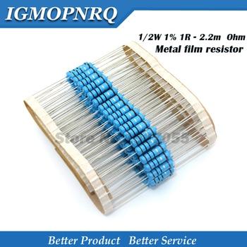20pcs 1/2W Metal film resistor 1R~2.2M 100R 220R 330R 1K 1.5K 2.2K 3.3K 4.7K 10K 22K 47K 100K 100 220 330 1K5 2K2 3K3 4K7 ohm - sale item Passive Components