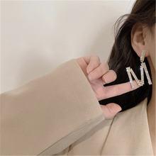 Модные милые серьги с буквенным принтом женские модные ювелирные