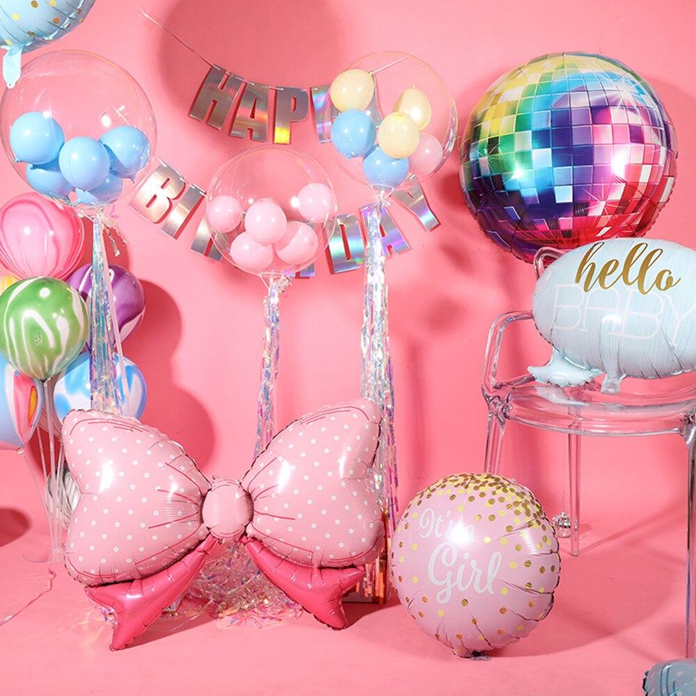 Воздушные шары из фольги в форме банта, 1 шт.