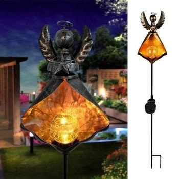 LED Solar Flame Light Metal LED Garden Light Flame Effect Lamp Waterproof Outdoor Lights Landscape Lights Solar Decorative Light 13