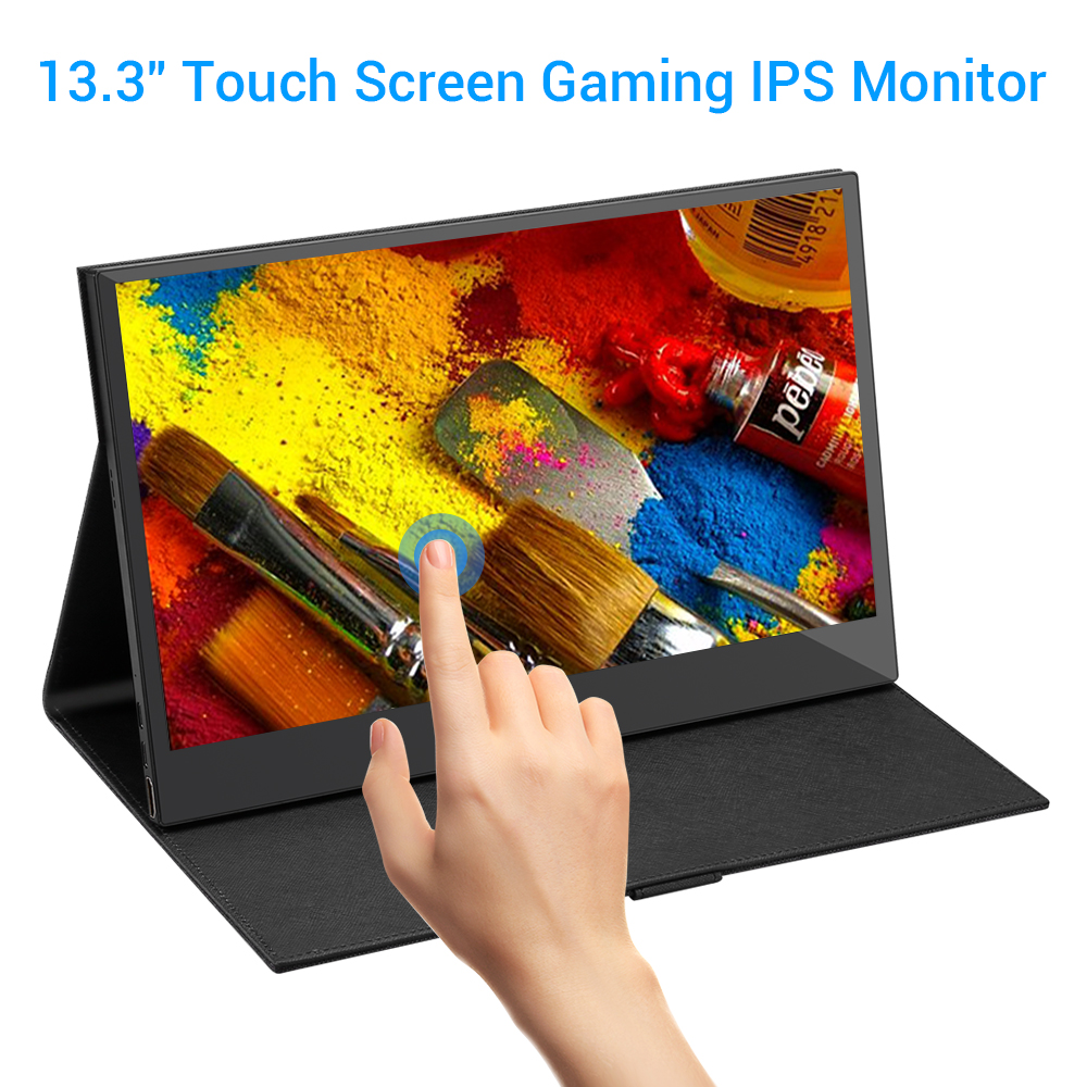 Eyoyo 13.3 Touchscreen Monitor 1920x1080 IPS Portable HDMI Monitor Second Monitor Mini PC Screen USB C PS4 Switch Raspberry Pi