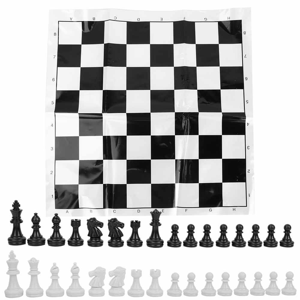 49mm Chess Set Board Games Portable Plastic International Ch…