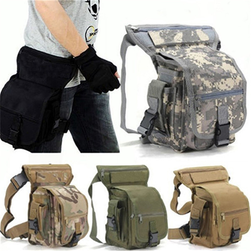Fashion Men Military Tactical Thigh Bag Utility Waist Pack Pouch Adjustable Hiking Male Waist Hip Motorcycle Leg Bag