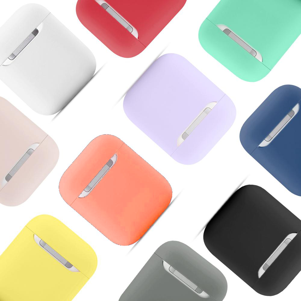 TPU Silicone Bluetooth Wireless Earphone Case For AirPods Protective Cover Skin Accessories For Apple Air Pods Charging Box Bag