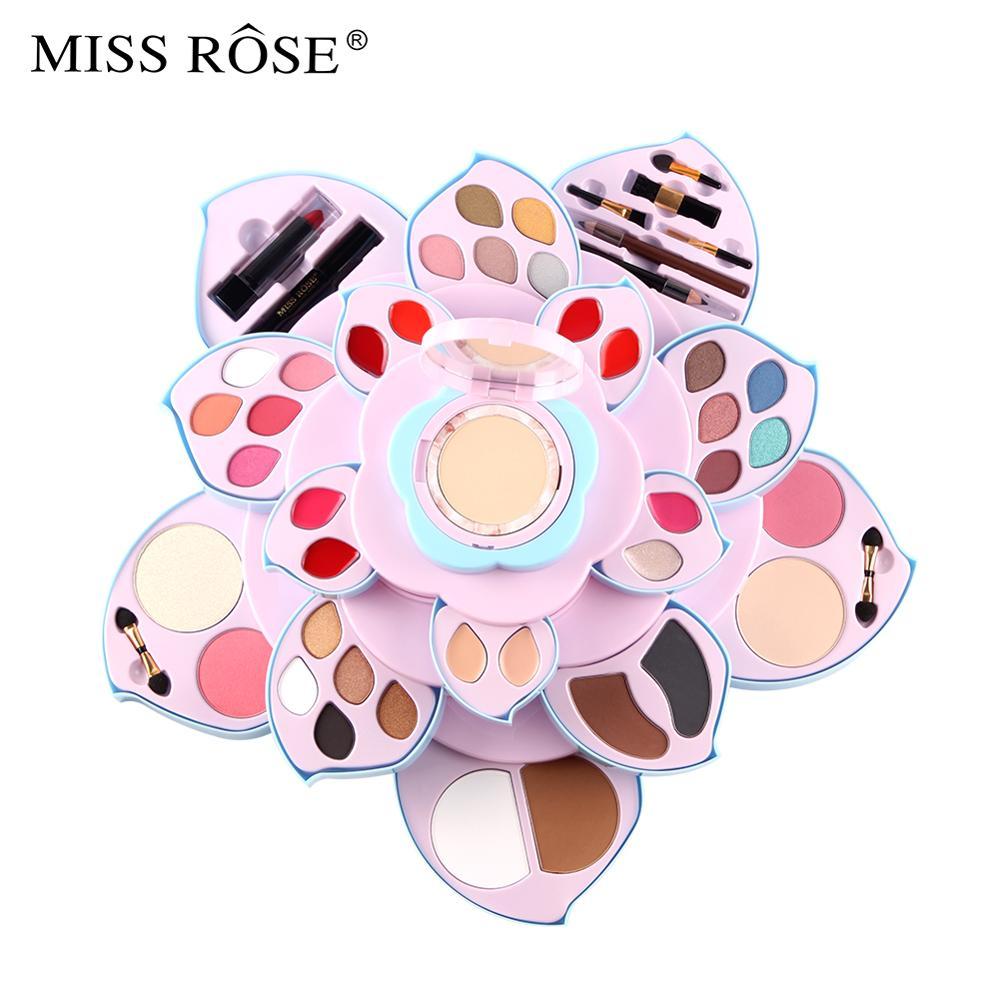 Miss Rose di trucco della gamma di colori di luccichio opaco ombretto in polvere trucco viso fard impermeabile di lunga durata batom nude lip gloss MS210