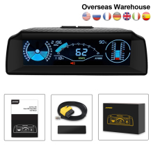Auto Hud OBD2 Boordcomputer Head Up Display Helling Meter Auto Snelheidsmeter Kompas Display Code Clear Car-styling Elektronica