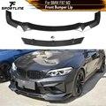 Автомобильный передний бампер из углеродного волокна/ФАП, спойлер, разветвители для BMW F87 M2 Coupe 2 Door 2016-2019, передний бампер, спойлер, разветвит...