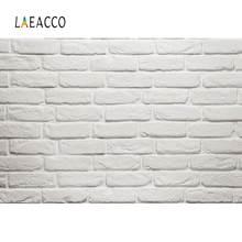 Laeacco szare ściany tła dla fotografii cegła białe ciasto urodziny portret dziecka Photo Backdrops Photo Studio
