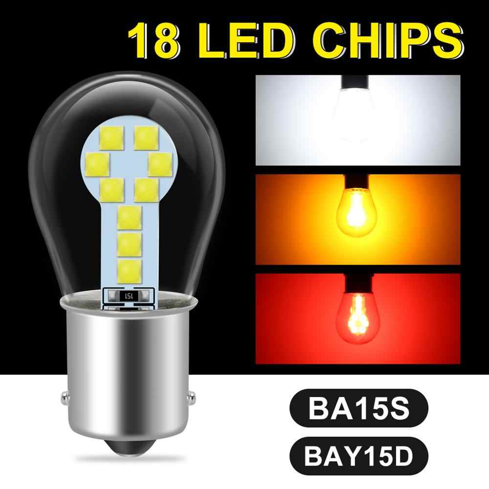1pcs 3030 Chips 18SMD 1156 P21W BA15S Led Bulb 1157 BAY15D P21/5W Auto Car Tail Brake Bulb Parking Lamp Reverse Turning Lamp 12V
