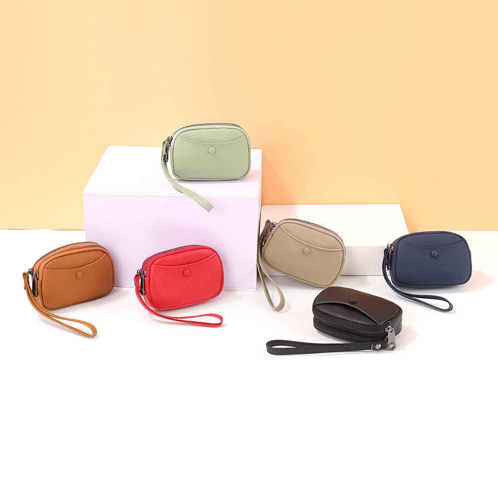 Original กระเป๋าสตางค์หนังผู้หญิงนาฬิกาข้อมือคลัทช์คู่ Zipper ของแท้หนังกระเป๋าเปลี่ยนกระเป๋าสตางค์สำหรับช้อปปิ้งสุภาพสตรีกระเป๋าใหม่