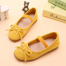 Child Kids Shoes Girls bow-knot princess shoes chaussure fille Soft bottom single 3 4 5 6 7 8 9 10 11 12-15Year Old