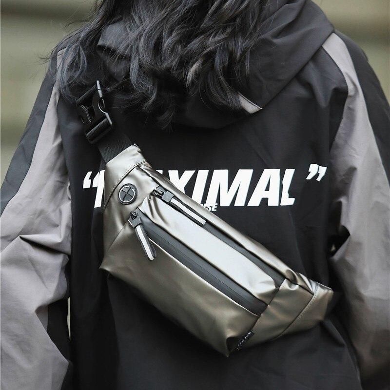 Hip Hop Mens Waist Bag Large Capacity Woman Belt Bag Premium Leather Fanny Pack Female Shoulder Crossbody Chest Bags Banana Bags