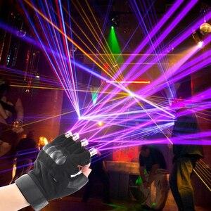 Image 1 - Czerwony zielony fioletowy laserowe rękawice scena taneczna rękawice laserowe światło dłoni dla klubu DJ/Party/bary etap światło palec osobiste rekwizyty