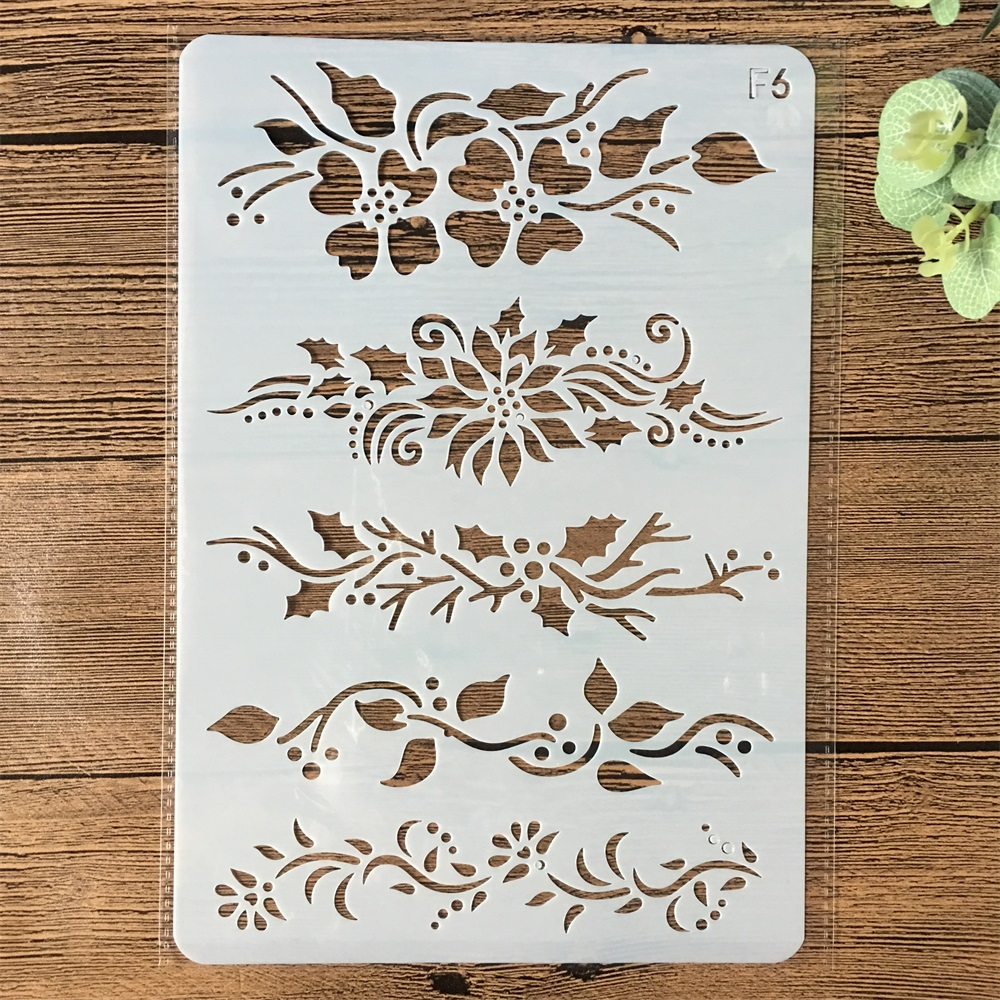 26*17cm Flower Leaves Line DIY Layering Stencils Wall Painting Scrapbook Coloring Embossing Album Decorative Card Template
