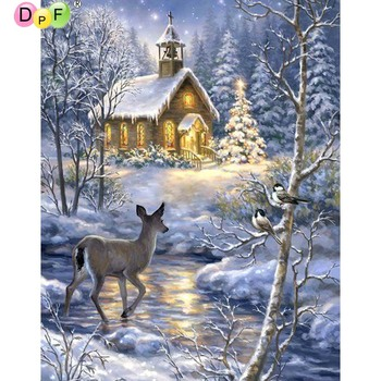 5D DIY Diamond Painting deer round/square Cross Stitch Diamond Embroidery kits Diamond Mosaic home Decorative drill image