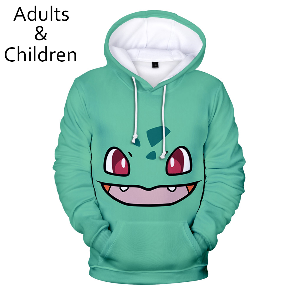 Autumn 3D Anime Pokemon Hoodies Men Women Hoodie Children Sweatshirts 3D Pokemon Hooded  Boys Girls Anime Kids Casual Pullovers