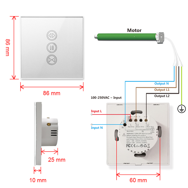 Módulo wifi + mando para persianas 6