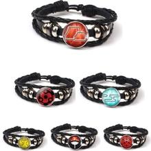 New Uchiha Clan Rinnegan Sharingan Eye Bracelet Anime Naruto Woven Leather Sasuke Kakashi Cosplay Jewelry Gift
