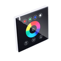 Touch Switch Control Panel  RGBW 2.4G Wireless Wall Switch Touch Controller 12 24V LED Strip intelligent switch wall embedded Connectors     -