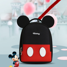 Disney  2 in 1 Baby Walker Anti Lost Wrist Link Toddler Leashes Safety Harness Strap Rope Wristband Children Walking bag