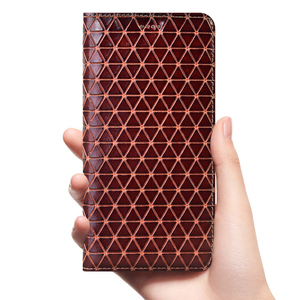 Image 1 - Grid Genuine Leather Flip Case For Lenovo P1 P1M P2 Z5 Z5S Z6 S5 K5 K5S A5 K6 K9 K10 A6 Lite Note Play Pro Plus Power Cover