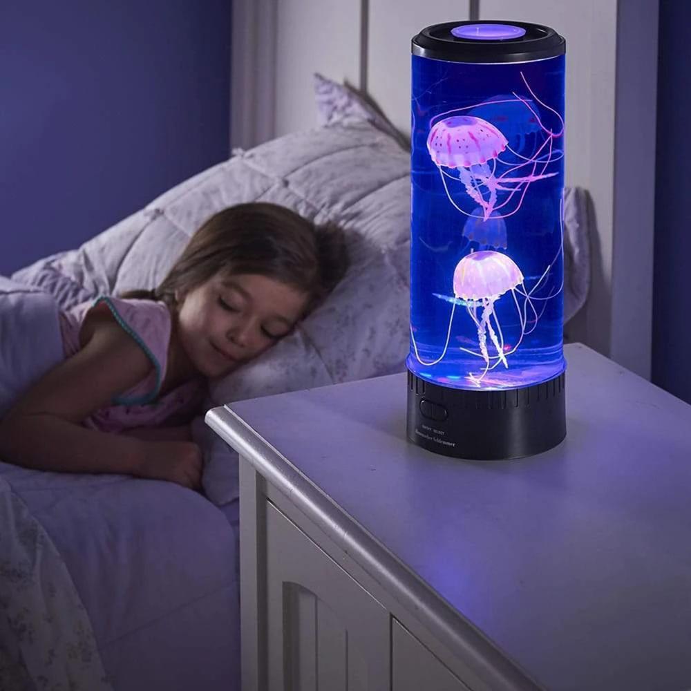 USB Powered Led Jellyfish Lamp Children's Night Light Jellyfish Tank Aquarium Led Lamp For Table Home Bedside Decor Holiday Gift