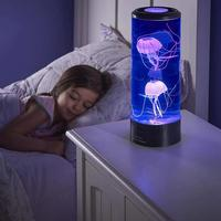 USB Powered Led Jellyfish Lamp Children's Night Light Jellyfish Tank Aquarium Led Lamp For Table Home Bedside Decor Holiday Gift