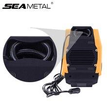 Akcesoria samochodowe sprężarka powietrza samochodowa 12V pompa nadmuchiwane LED ciśnienia w czasie rzeczywistym samochodów pompa powietrza uniwersalny mini samochody elektryczne