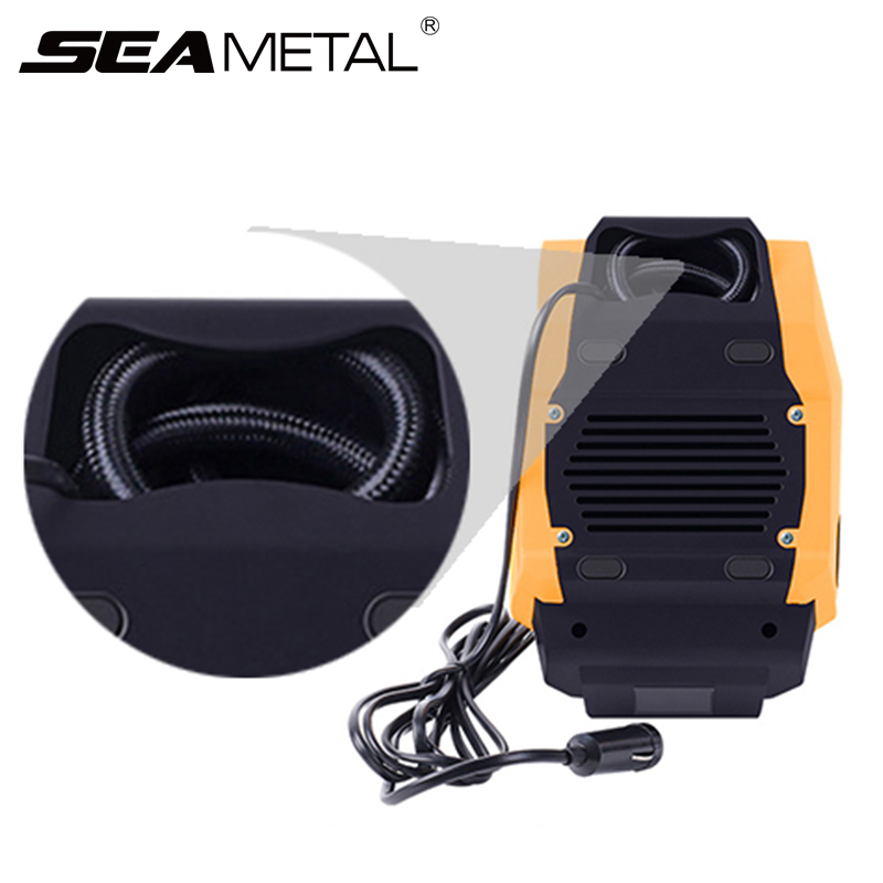 Auto Accessories Car Air Compressor 12V Inflatable Pump LED Pressure Real time Automobile Air Pumps Universal Mini Cars Electric-in Inflatable Pump from Automobiles & Motorcycles