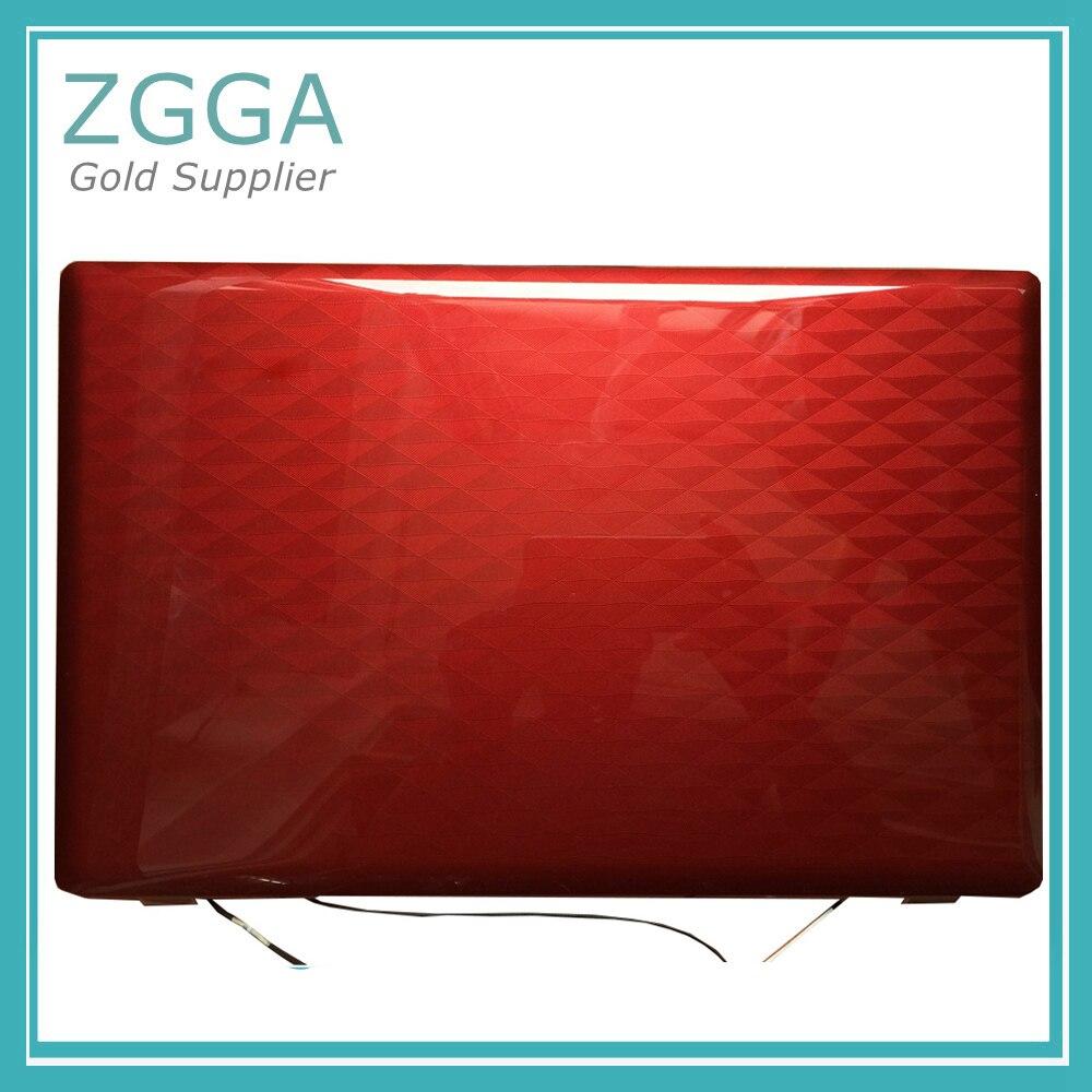 Véritable nouveau pour Lenovo IdeaPad Z580 ordinateur portable couvercle arrière couverture supérieure coque rouge blanc 90200641 3CLZ3LCLV10