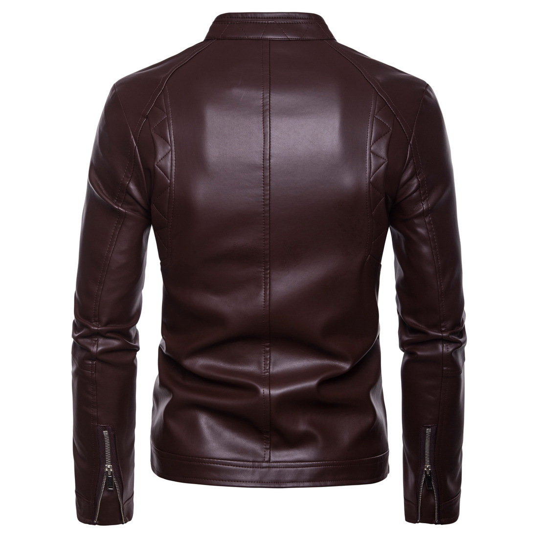 Ouma 18 New Style Men Locomotive Stand Collar Leather Coat Leather Jacket Coat B035