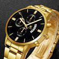 Роскошные мужские часы модные бизнес нержавеющая сталь мужские кварцевые часы мужские наручные часы Военные Спортивные часы Relogio Masculino