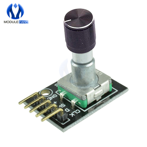 5PCS KY-040 360 Degrees Rotary Encoder Module Brick Sensor Switch Development Board For Arduino With Pins Half Shaft Hole Caps(China)
