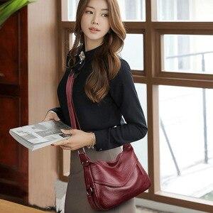 Image 5 - Crossbody torby dla kobiet Messenger torby kobiet miękka skóra torba na ramię Sac główna luksusowe projektant torebki w stylu Vintage kobiety nowy