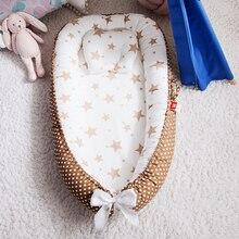 Переносная детская кровать-гнездо с подушкой для новорожденных, дорожная кровать для уличной кровати, детская кроватка, гнездо